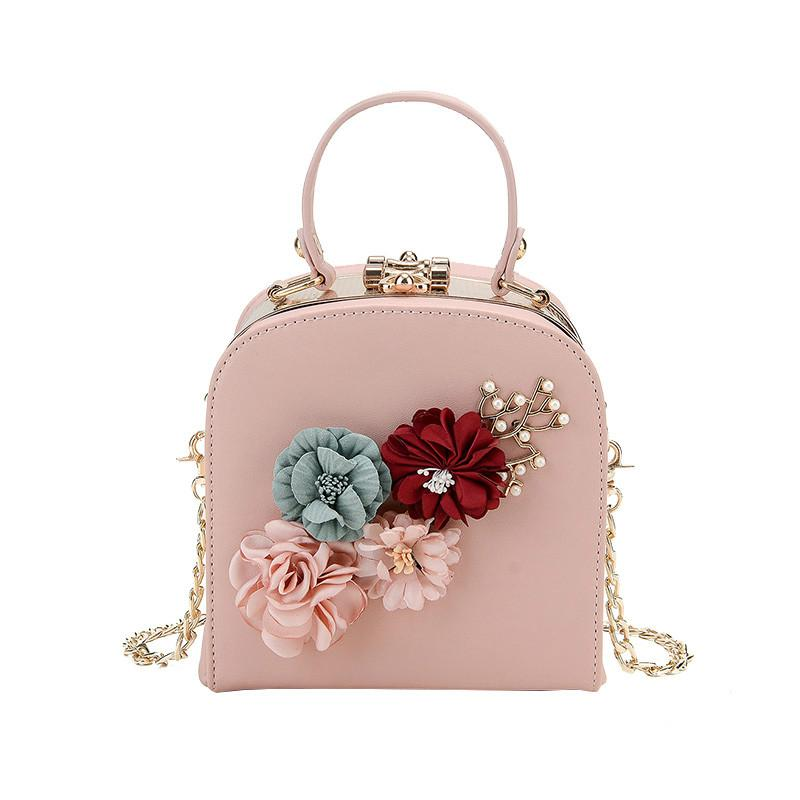 2018 New Arrival Women S Handmade Flowers Handbags Mini Chain Shoulder Bags  Small Messenger Bag Fashion Pearl Totes For Female Leather Bags Designer  Purses ...