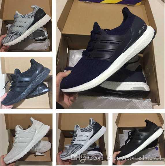 42ca3fa39 Compre Adidas Ultra Boost 3. 0 Ultraboost 4.0 Zapatos Corrientes Al Por  Mayor Mujeres Hombres Zapatillas Deportivas Causales Baratos Mejores Nuevos  Zapatos ...