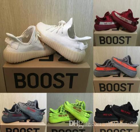 Baby Kids Athletic Shoes Kanye West Season 3 SPLY 350 V2 Running Shoes Boy  Girl Beluga 2 0 Sneaker Black Red Zebra