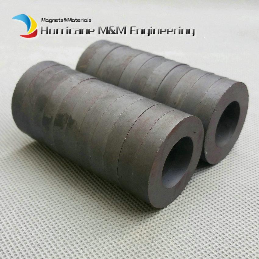 Ferrite Magnet Ring OD 32x18x6 mm grade C8 Ceramic Magnets for DIY Loud speaker Sound Box board Sub-woofer