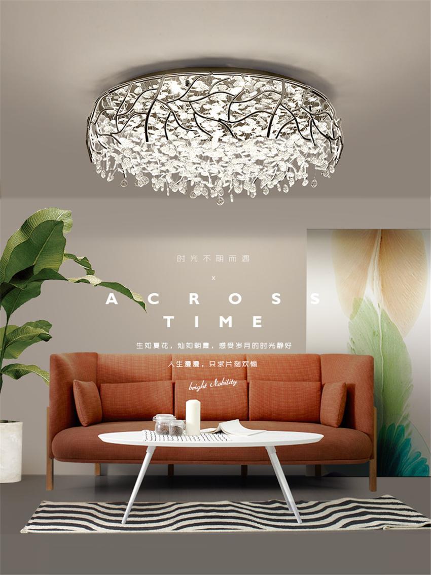 Compre Moderno N Rdico Luxo Luzes De Teto De Cristal Quarto Sala De