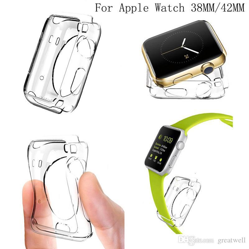 Für iwatch 4 case 3d touch ultra clear weiche tpu abdeckung stoßstange apple watch serie 4 3 2 displayschutzfolie 38mm / 42mm / 40mm / 44mm für apple watch 4