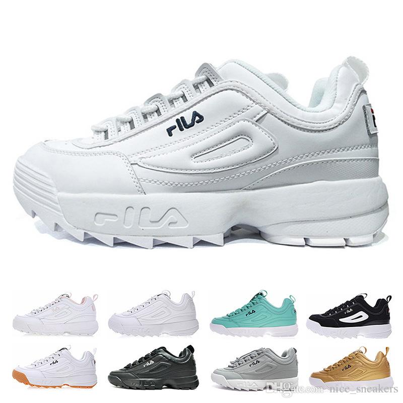 Disruptors II 2 Women Men Running Shoes Triple White Black Grey Pink  Special Section Sports Sneaker Increased Fashion Casual Shoe Size 36 44  Barefoot ... cd56900df15