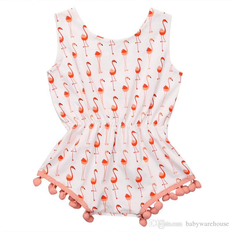 24b12291839b 2019 Summer Baby Romper Cute Newborn Baby Girl Clothes Tassel Swan Printing  Romper Infant Toddler One Piece Outfits Clothes Kids Jumpsuit Sunsuit From  ...