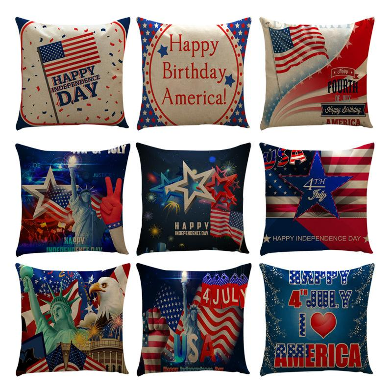 Amazon Sells New American Flag Independent Day Flag Series Linen Pillowcase  Sofa Cushion Set Decorative Throw Pillows Cushion Covers Cushions For Patio  ...
