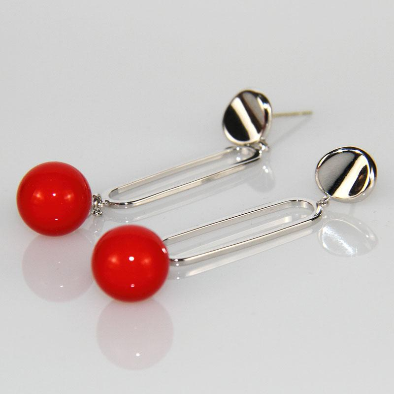 2018 NEW Style Fashion Earrings, Red Beads, Simple, Jewelry,gift ...