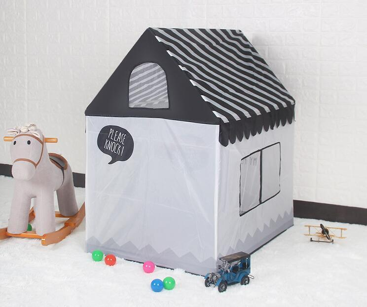 New Play House House Indoor ed Outdoor Easy Pieghevole Ocean Ball Pool Pit Game Tent Play Hut Girls Garden Playhouse Bambini Bambini Tenda giocattolo