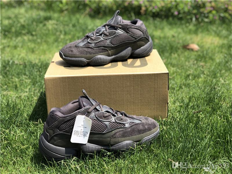 30964e6c8176 2018 Originals 2066Yeezy 500 Utility Black Blush Kanye West Men Women  Running Shoes 3M Newest Authentic Sneakers With Box F36640 Men Sports Shoes  2018 ...
