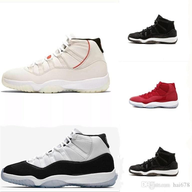 New Style Concord High 45 Platinum Tint 11 XI 11s Cap And Gown Men  Basketball Shoes PRM Heiress Gym Red Space Jams Women Sports Sneakers  Walking Shoes Shoes ... dfb90a89e