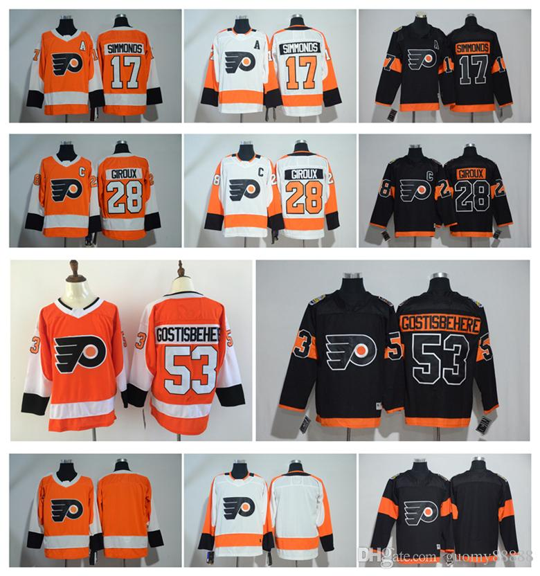 Philadelphia Flyers Jersey Hockey 53 Shayne Gostisbehere 17 Wayne ... 9072011cf