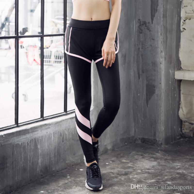 055ac34eacb92 2019 Silanda Sports Women Compression Yoga Pants Elastic Exercise Tights  Female Quick Dry Fitness Gym Running Long Jogging Trousers Slim Leggings  From ...