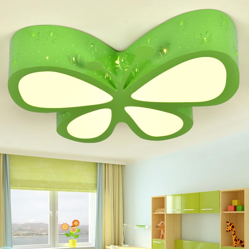 Novelty Children s room ceiling light bedroom lamps LED creative  personality butterfly lighting fashionable girls rooms lamps