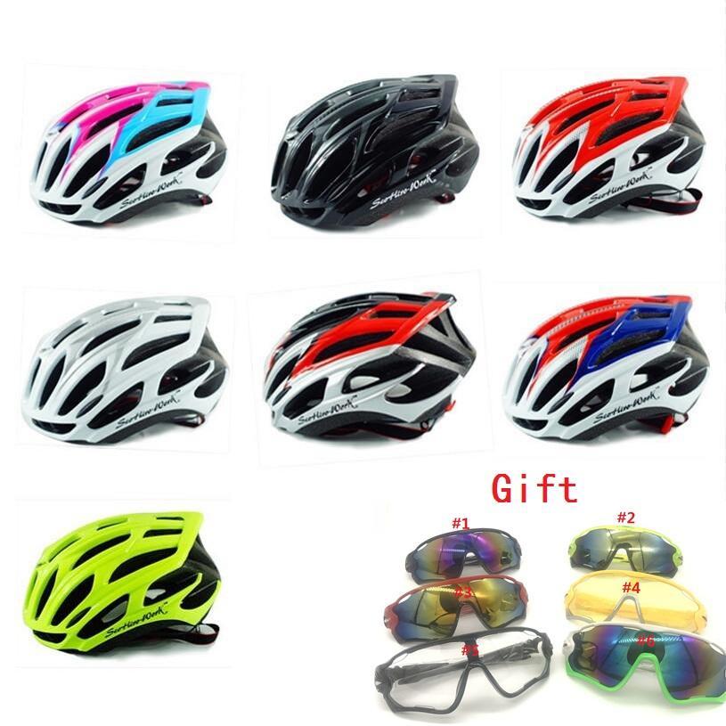 a74c80e515ff2 Get one glasses free Ultralight cycling helmet 25 Air vents mtb road  mountain bike helmet EPS+PC bicycle men/women