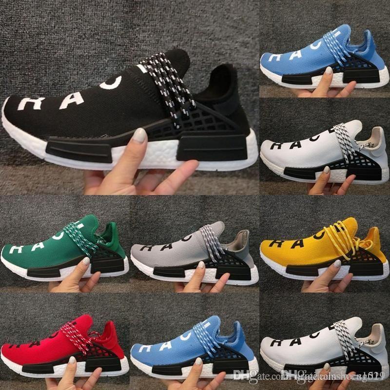 4674bf72a88aa Boost NMD Human Race Knitting Running Shoes Original Pharrell ...