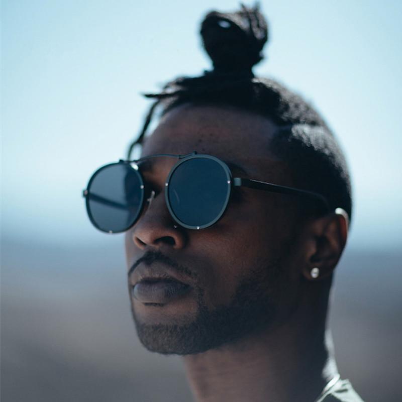 Compre 2019 Luxo Gótico Steampunk Óculos De Sol Das Mulheres Dos Homens  Marca Designer Shades Retro Rodada Mens Sunglass Masculino Óculos De Sol  Para Homens ... 2fb02242d0