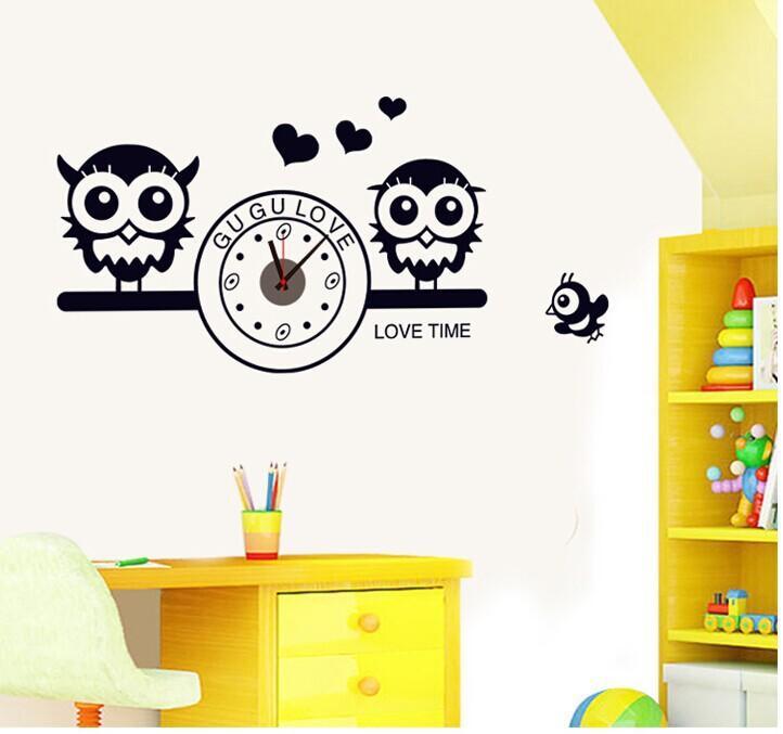 large diy green creative wall sticker clock 12 digits high grade pvc