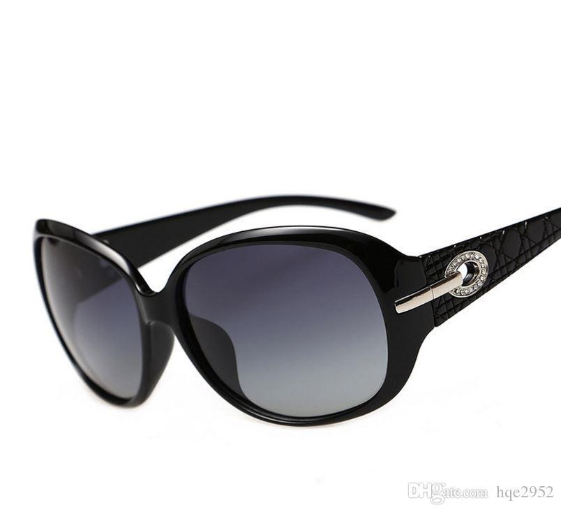 6214 Lüks Kadınlar Polarize Güneş Gözlüğü Retro Gözlük Büyük Boy Gözlük Gözlük Güzel Oyulmuş Tapınak Parti Moda Maç için