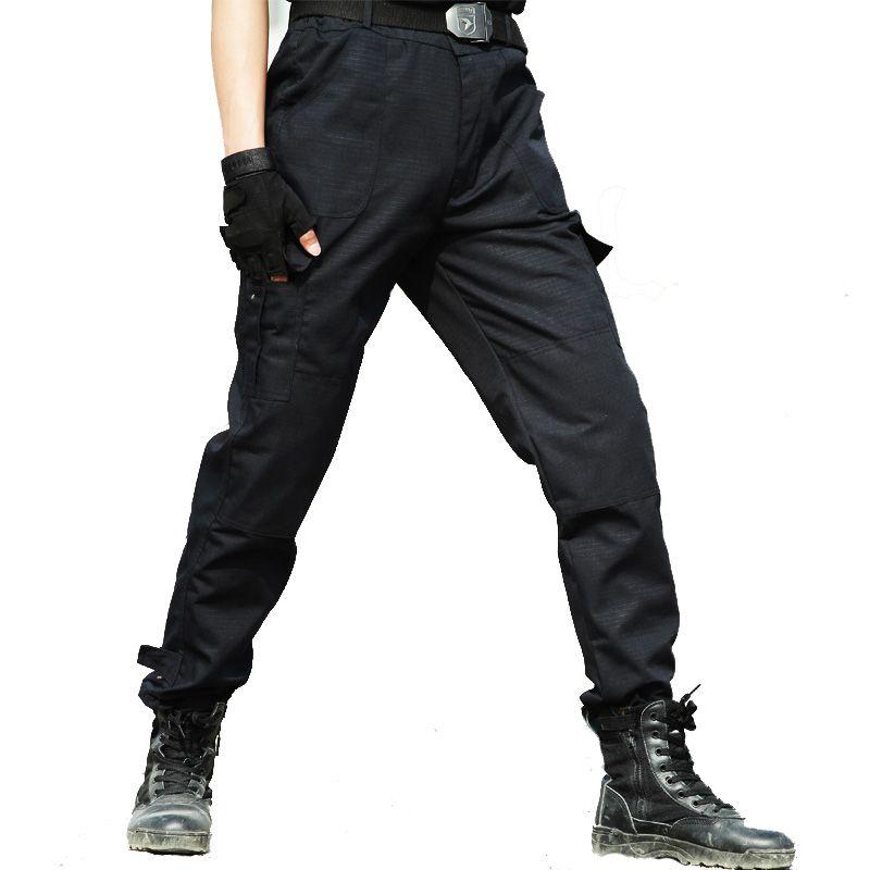 Acquista Pantaloni Cargo Pantaloni Tattici Pantaloni Larghi Da Uomo  Pantaloni Da Lavoro Casual Pantaloni Da Lavoro Pantaloni Neri Sottili  Pantalon Nero A ... 1b8ef354a08f