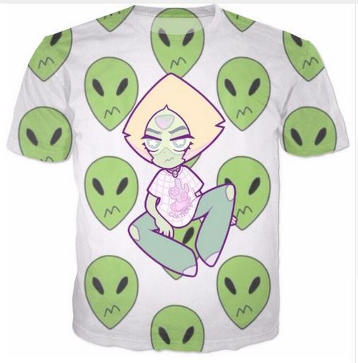 6ffeb4674060 Peridot Alien Pattern T-shirts New Fashion Men Women 3D Character T ...