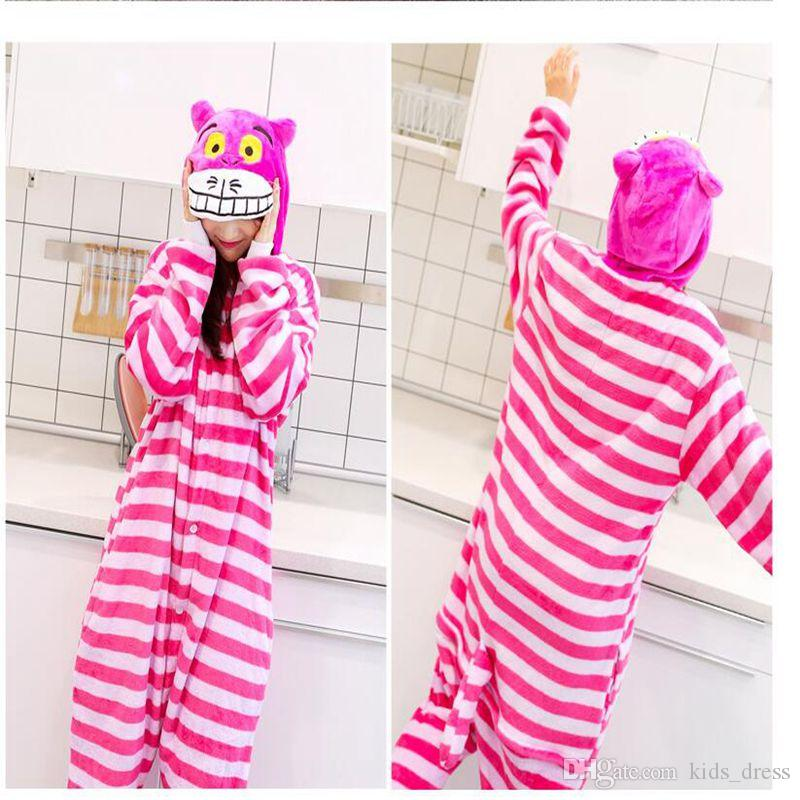 a1c357e23 Unisex Adult Cosplay Pajamas Cheshire Cat Anime Sleepwear Animal Onesie  Sleepsuit Pajamas Cosplay Costumes Sleepwear KKA4169 Halloween Pajamas For  Kids Boy ...
