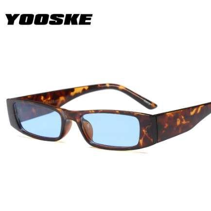 2b320ce88eea2 Compre YOOSKE 2018 Vintage Pequeno Quadrado Óculos De Sol Das Mulheres  Designer De Marca Retro Leopardo Quadro Retangular Óculos De Sol Das  Mulheres UV400 ...