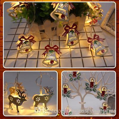 Hochwertige Weihnachtsbeleuchtung.Led Batterie Lichterkette Glocken Elch Lichterkette Weihnachtsbeleuchtung String Home Party 1 8m 10led Hochwertige Dekoration