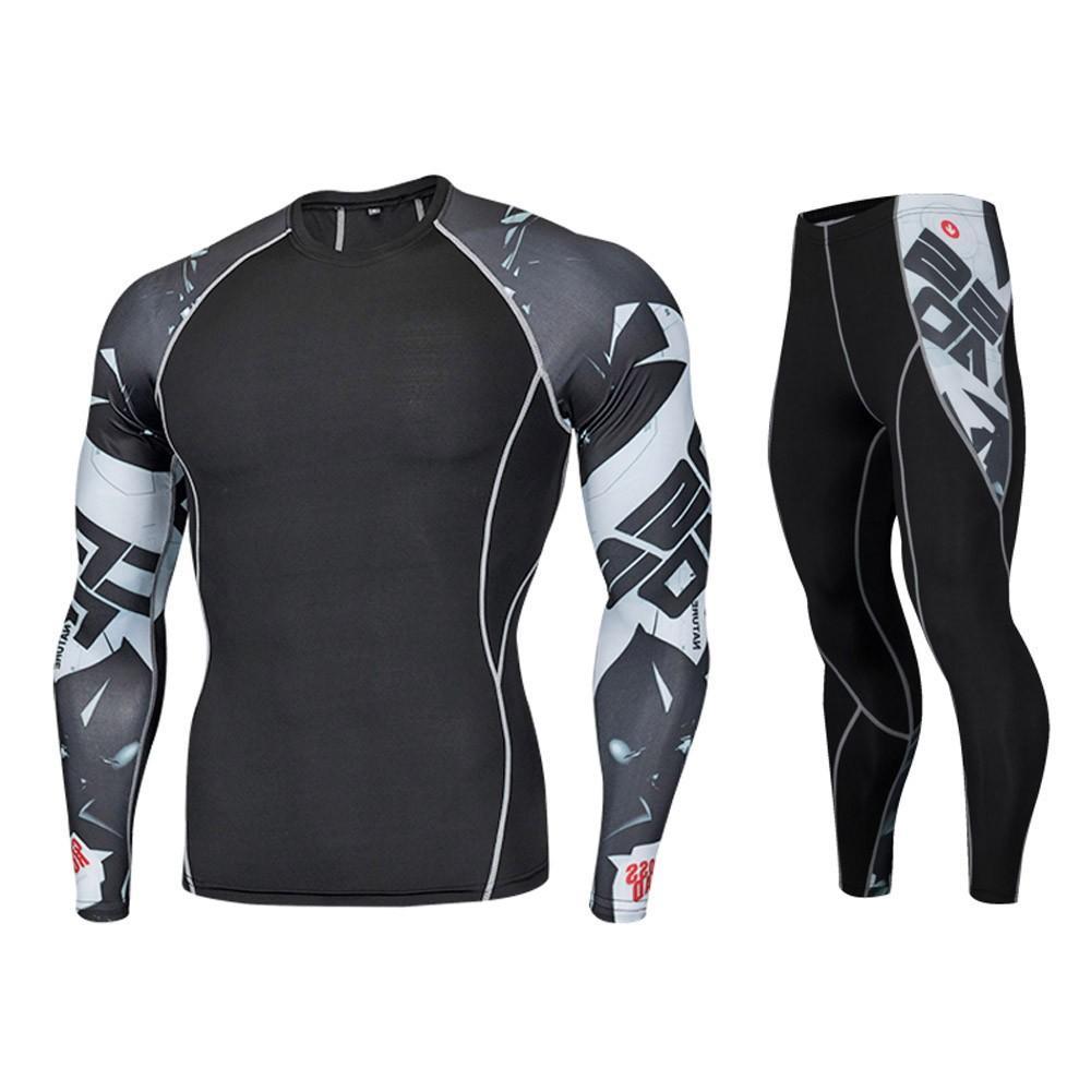 814ca763974 FeiTong Tracksuit Men Set Autumn Spring Jogging Sport Suit Workout Leggings  Fitness Sports Gym Athletic Pants+Shirt Suit Men s Sets Cheap Men s Sets  FeiTong ...