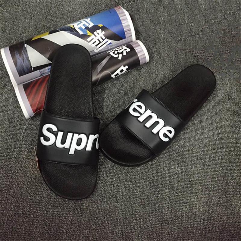 32b076e0a7a3e5 Top Sale N6Supreme Box Logo Men Women Sandals Designer Shoes Luxury Slide  Summer Fashion Hip Hop Sandals Slipper Flip Flop Indoor Slippers High Heels  Heels ...