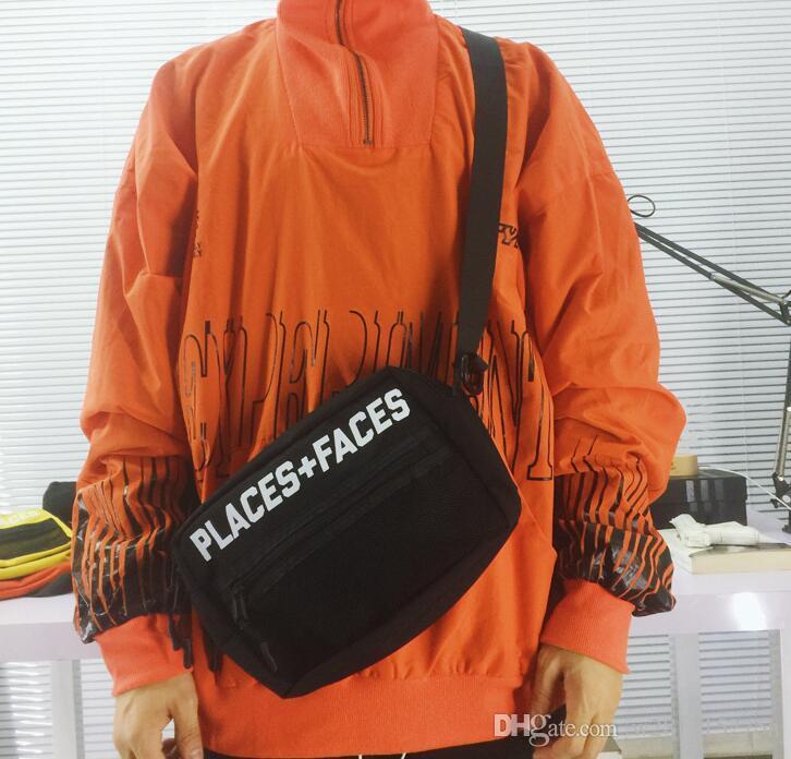 30df925d9 Erkekler ve kadınlar için göğüs çantası P + F cepler retro spor 3 M ...
