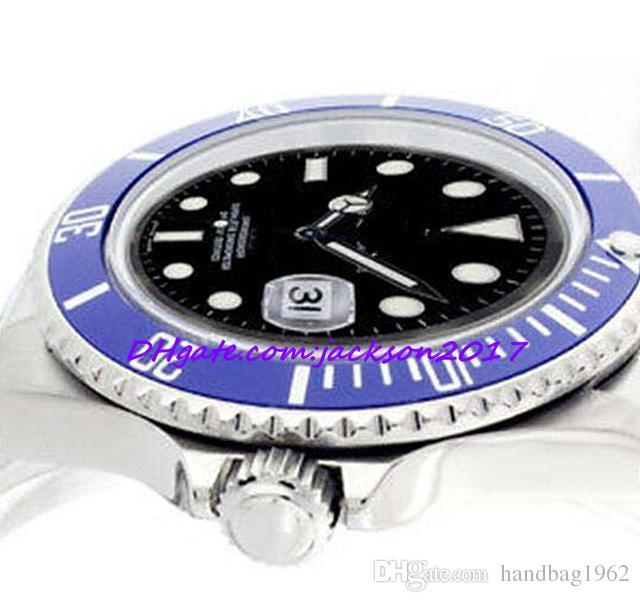 08e2e55437be Compre Suministros De Fábrica Envío Gratuito Relojes Para Hombres Acero  Inoxidable Dial Negro Azul 40mm Deporte   Reloj Informal A  81.22 Del  Handbag1962 ...