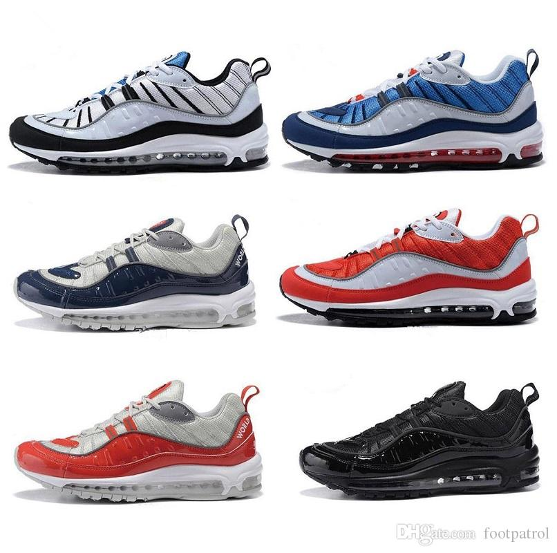 pick a best cheap online cheap best prices New Arrival 98 OG Gundam Red Blue Silver Bullet Men Sneakers 2018 White Running Shoes Fashion Retro Brand Sports Sneakers 7-12 BQO1T