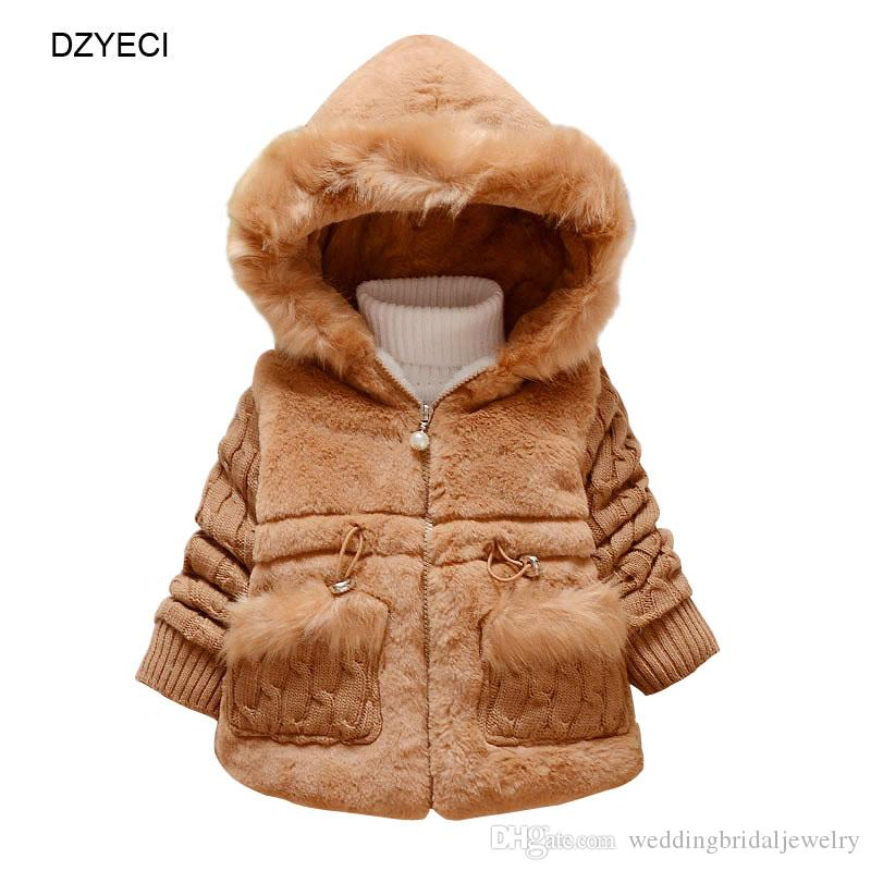 2f6ffdccae01 Winter Faux Fur Coat For Baby Girl Clothes Christmas Costume Kid ...