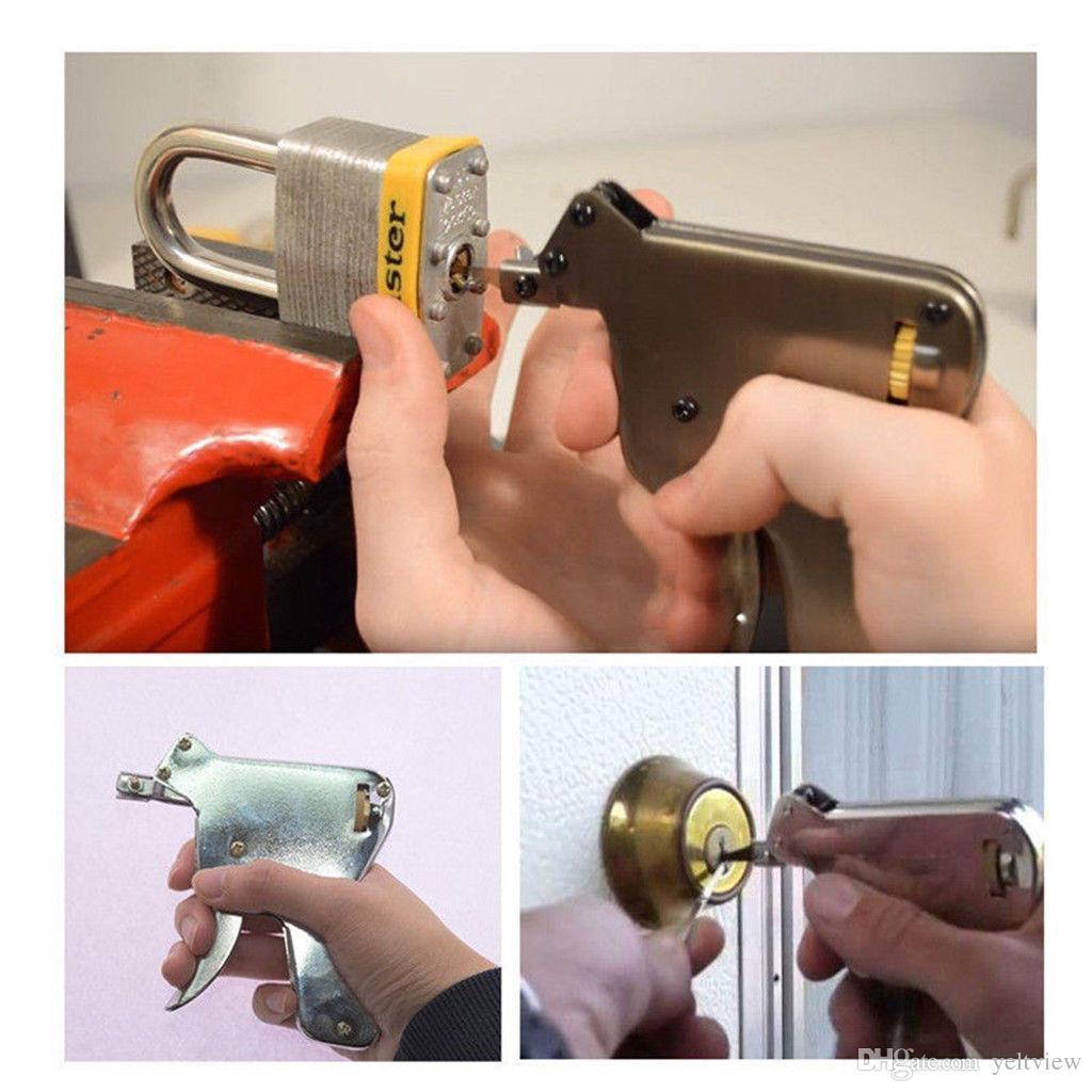 6 pçslote LSL Forte EAGLE Lock Pick Gun Ferramentas Serralheiro Lock Pick Set Abridor de Bloqueio Da Porta Lockpick Ferramenta Picking Colisão Chave Cadeado