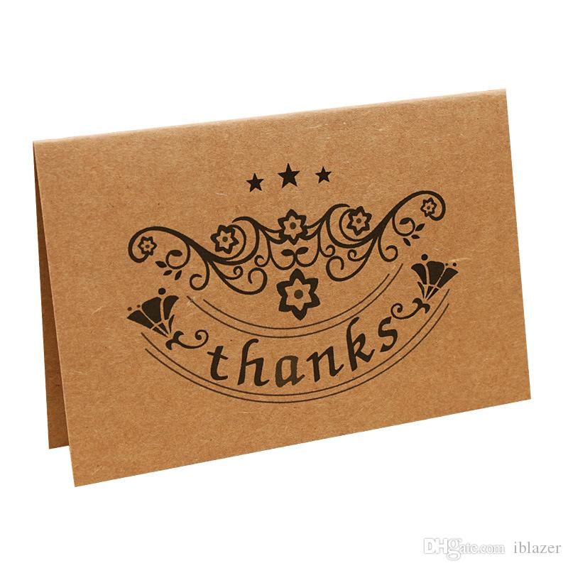 Brown Kraft Paper Thank You Cards Greeting Card Envelopes For