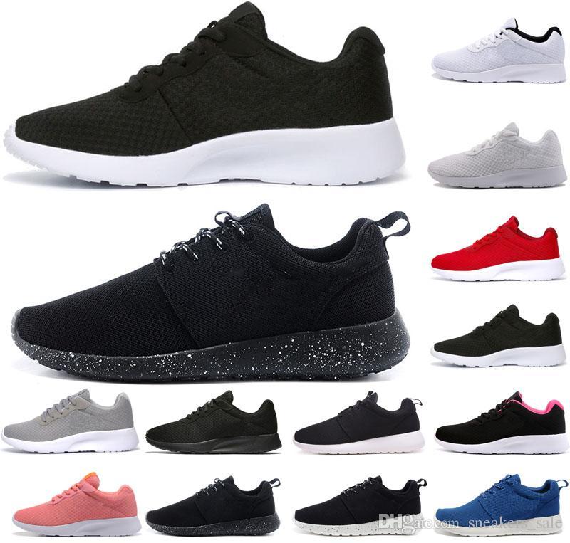 en soldes 45286 a1914 nike roshe run one tanjun hommes femmes chaussures de course triple blanc  noir London Olympic Runs hommes chaussures de sport exécutent des  chaussures ...