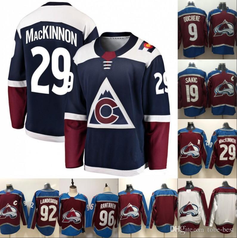 2a6fc31cf Ado Avalanche Hockey Jerseys 92 Gabriel Landeskog 29 Nathan ...