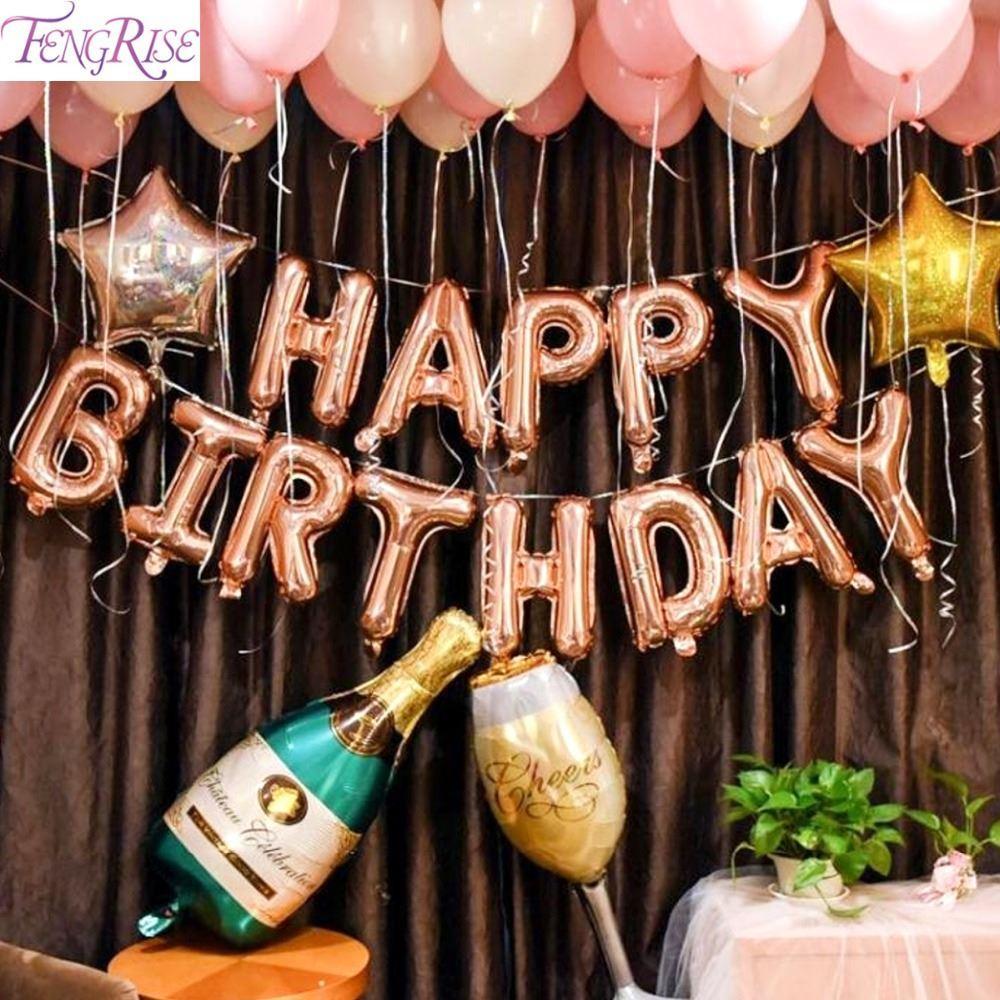 Grosshandel Fengrise Rose Gold Party Ballon 18 21 30 Geburtstag