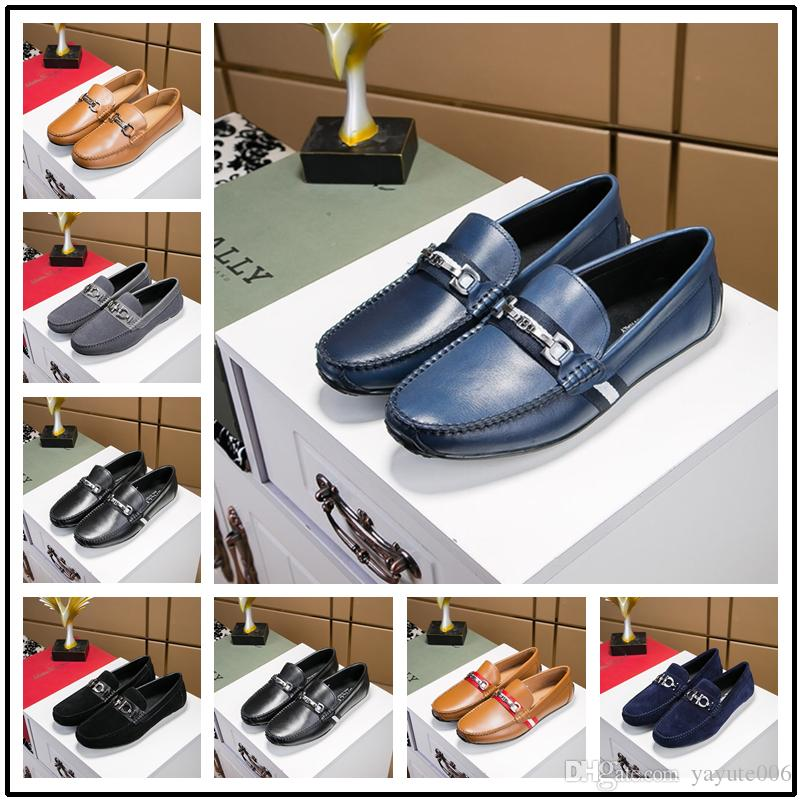 e800246078724 2018 Top Quality Brand Formal Dress Shoes For Gentle Men Black Genuine  Leather Shoes Pointed Toe Men'S Business Oxfords Casual Shoes White Shoes  Wholesale ...