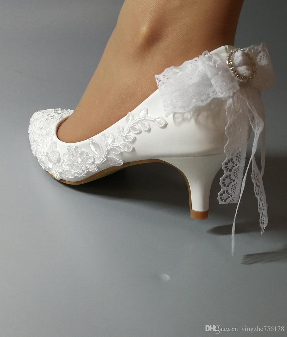 Acquista Scarpe Da Sposa Bianche Fatte A Mano Da Donna In Pelle Di ... e61a7d97fe2