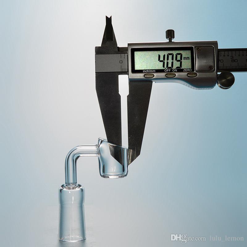 45 90 Grad Echt Quarz Banger Nagel 4mm dick 10mm 14mm 18mm Männlich Weiblich Joint Quartz Banger Nägel Raucher Dab Zubehör DGCQ05-09