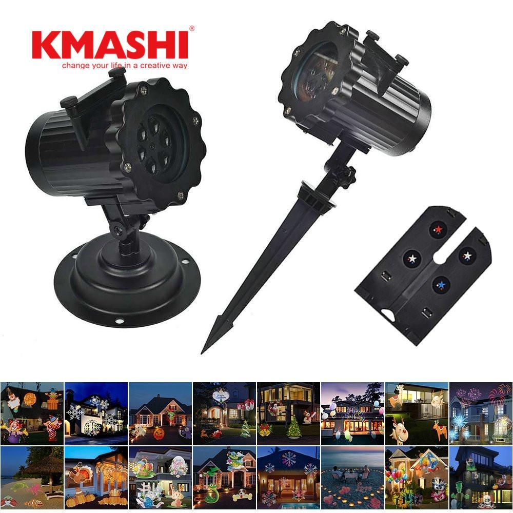 2018 Kmashi 16 Pattern Slides Sparkling Laser Light Show Rotating ...