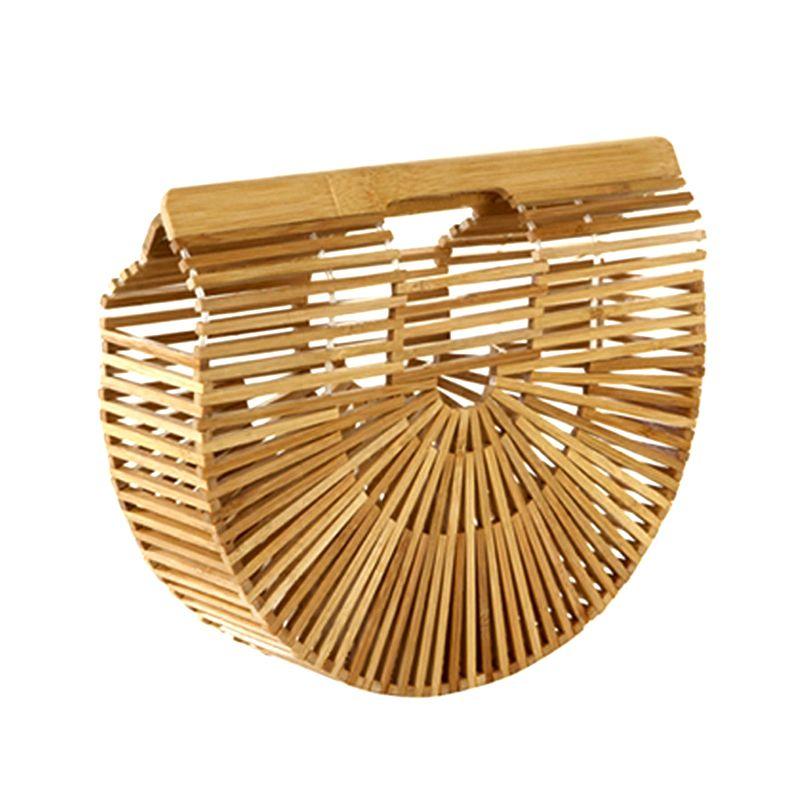 Charmant 2018 Storage Basket Women Handbag Female Big Travel Vacation Totes Bamboo  Handbag For Ladies Handmade Woven Beach Bag Women Summer Womenu0027S Purse From  Txying ...