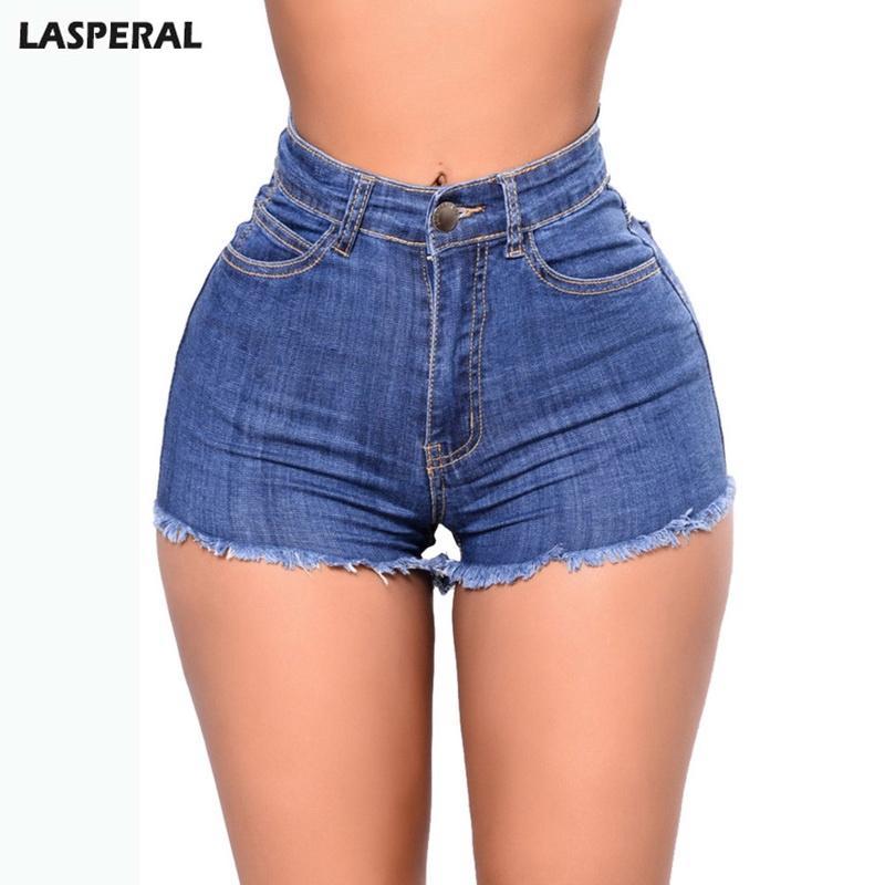 Acheter LASPERAL Taille Haute Short Jeans 2018 Fashion Boyfriend Summer  Wind Jeans Femme Summer Street Porter Casual Pocket Denim Shorts De  38.5  Du ... 470b3970e81