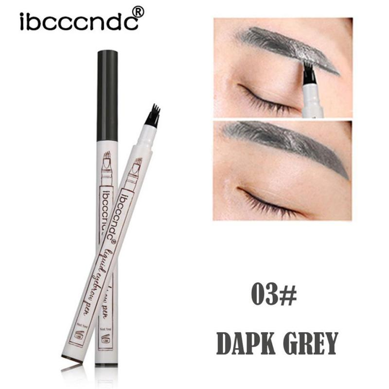 Ibcccndc Eyebrow Tattoo Pen Waterproof Fork Tip Sketch Makeup Pen