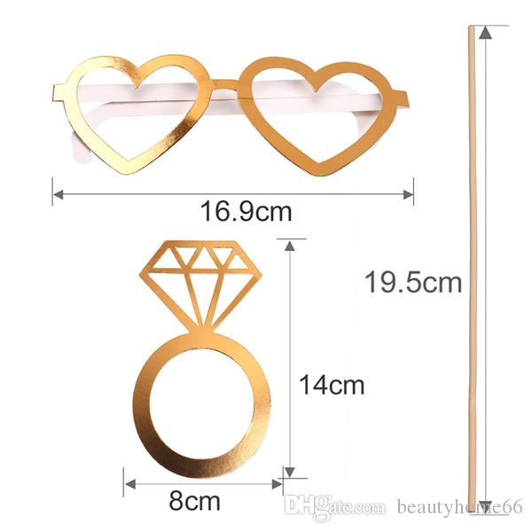 Gold Wedding Photo Booth Props Hen Party Team Bride To Be Photobooth Bachelorette Party Wedding Decoration Supplies