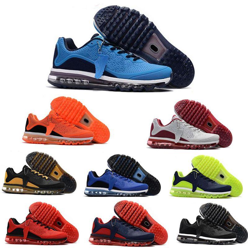 new products d56ce 1bc96 Compre Alta Qualidade Nike Air Max Airmax 2017 Kpu Nova Chegada Dos Homens  Sapatos Homens Sapatilha Maxes 2017 Mens Running Calçados Esportivos Maxes  BENGAL ...