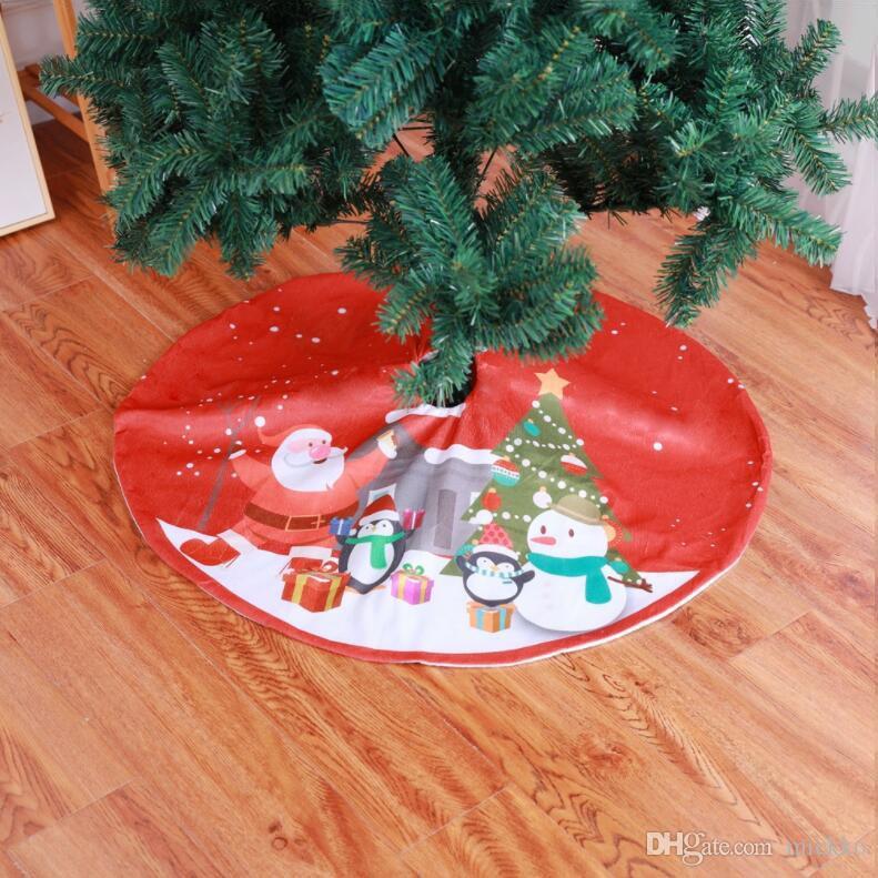 Babbo Natale 90 Cm.90cm Cartoon Babbo Natale Pupazzo Di Neve Pinguino Modello Albero Di Natale Gonna Supermercato Casa Albero Decorazione Grembiule