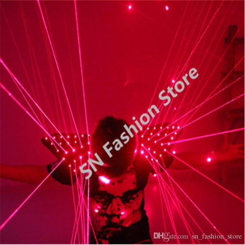 HH09 Red color men Laser vest Costumes cloth suit LED laser bar party props performance luminous clothing dj disco robot man projector show