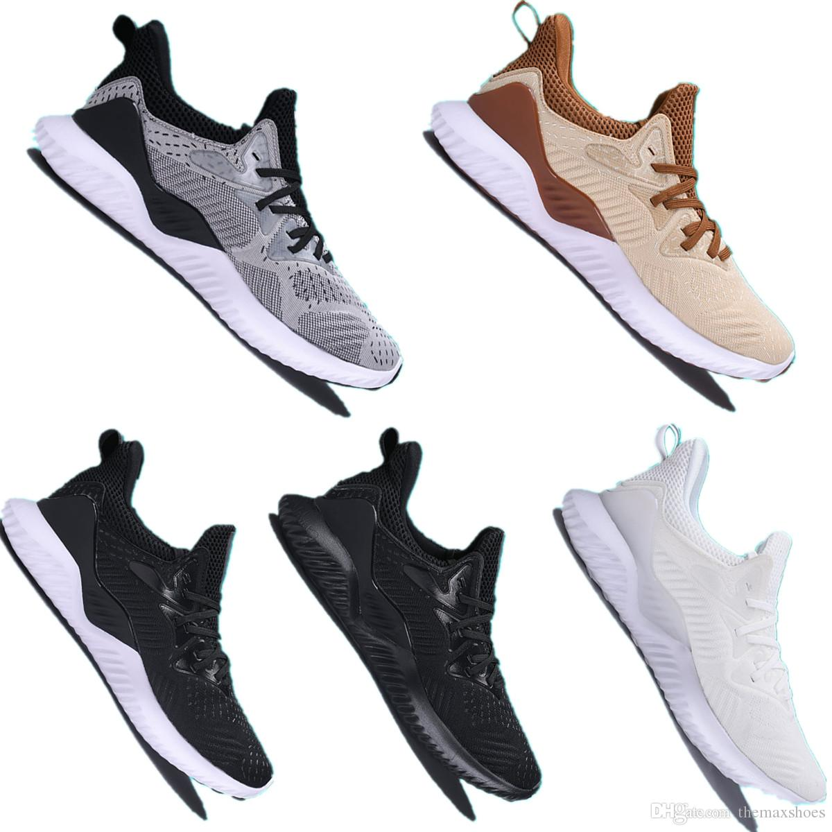 brand new 830df a80ad 2018 AlphaBounce Beyond High Marbles Shark Gills Outsole Running Shoes  Black Grey White Alpha Khaki Bounce Jogging Shoes Eur 36 45 Best Trail  Running Shoes ...