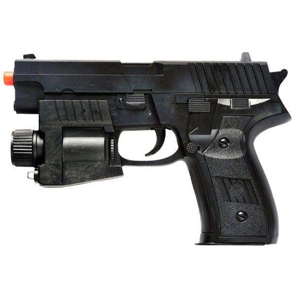 P226 RESSORT AIRSOFT PISTOLET PISTOLET LED LIGHT LASER SIGHT AIR w / 6mm BB BB